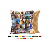 Fotokissen mit farbiger Rückseite