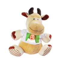 Stofftier Kuh mit Foto