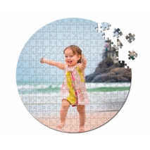 Rundes Fotopuzzle