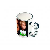 Foto-Tasse mit Tierhenkeln