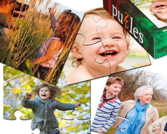 Personalisiertes FotoPuzzle - Set 4 in 1 für Kinder