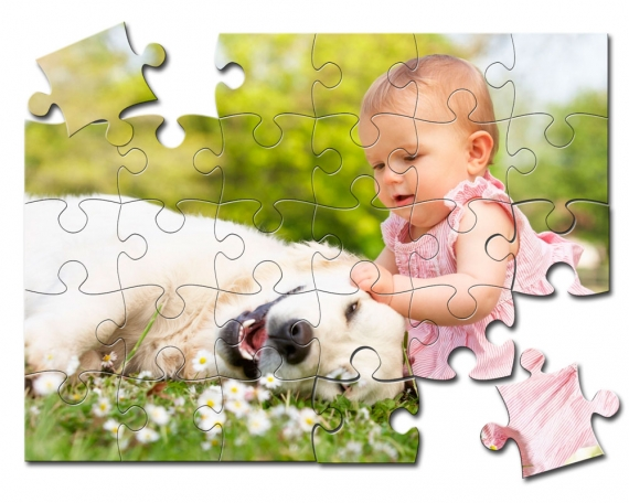 Personalisiertes Holzpuzzle